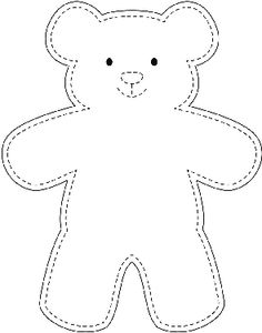 Sample teddy bear template wikihow best 10 easy 10 beginner sewing projects projects are readily available on our web pages check it out and you wont be sorry you did beginn Teddy Bear Outline, Teddy Bear Template, Diy Teddy Bear, Teddy Bear Sewing Pattern, Teddy Bears, Teddy Bear Crafts, Free Teddy Bear Patterns, Quilt Baby, Fabric Doll Pattern