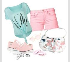 Cute summer outfit. Longer shorts though?