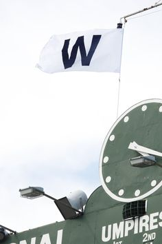 The Cubs W Flag tradition.