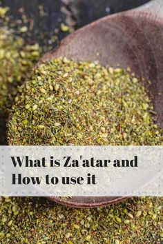 Learn about one of the world's best, flavor-packed and healthy spice blends, Za'atar! This guide comes with 11 za'atar recipes to try as well Mediterranean Sweet Potatoes, Mediterranean Breakfast, Mediterranean Spices, Mediterranean Diet Recipes, Mediterranean Seasoning, Homemade Spices, Homemade Seasonings, Spice Blends, Spice Mixes