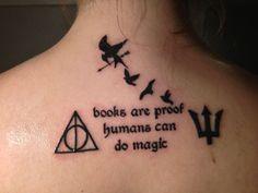 Harry Potter, Livros são a prova de que seres humanos podem fazer magia.