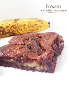 Scones banane - chocolat (my love breakfast ♥) Brownie Fondant, Brownie Cookies, Chocolat Cake, Cake Factory, Scones, Biscuits, Nutella, Brownies, Cake Recipes