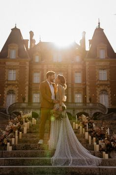 French castle elopement ceremony inspiration | Image by Through The Glass Paris French Castles, Wedding Blog, Wedding Trends, Chic, Wedding Dresses, Eco Friendly, Stylish, Inspiration, Color