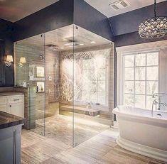 47 Magnificient Shabby Chic Bathroom Decor Ideas - Page 5 of 31 - BathroomRemodel Modern Master Bathroom, Modern Bathroom Design, Bathroom Interior, Restroom Design, Restroom Ideas, Minimalist Bathroom, Bathroom Furniture, Dream Bathrooms, Beautiful Bathrooms
