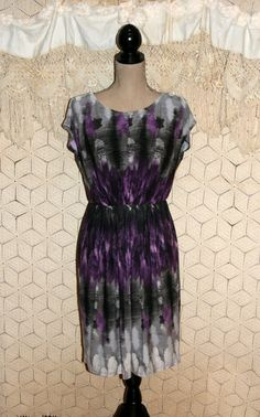 Purple Print Dress Spring Dress Sleeveless Dress by MagpieandOtis