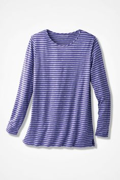 Weekend Striped Tunic - Coldwater Creek