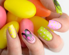 Colorful Nail Art - #colorfulnails #brightnails #nailart #brightcolors #zigiztyle - bellashoot.com