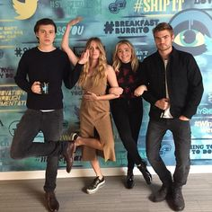 Nick Robinson, Maika Monroe, Chloe Grace Moretz and Alex Roe at an event for The 5th Wave. | #5thWaveMovie is in theaters NOW | Click on Nick to purchase your tickes online.