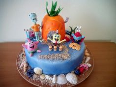 Cake with Spongebob and friends