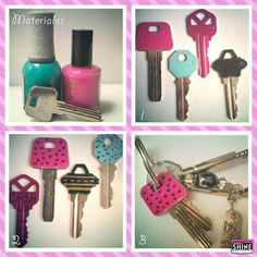 Handig: smeer wat nagellak op je sleutel en herken hem meteen