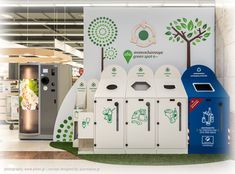 """""""GREEN SPOT"""" RECYCLING PROJECT / DESIGNED BY: PI-O CREATIVE LAB"""