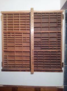 Medicine cabinet doors from printers trays via  https://www.facebook.com/TheVintageGarden