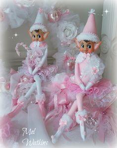 Extra large pink & white elf girls my mum and I just finished making :) <3