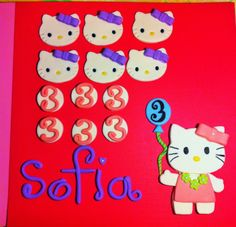 Hello Kitty cake and cupcake toppers! Full set