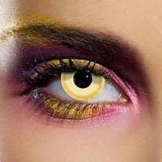 Yellow Avatar Coloured Contact Lenses (90 Day)