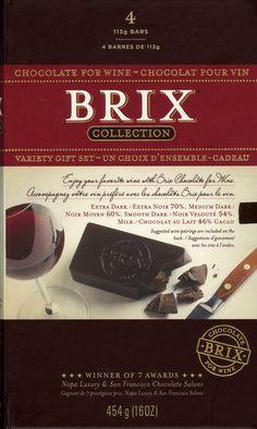 Coffret dégustation Chocolat pour vin $28