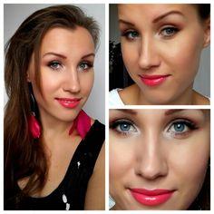 Sleek pink make-up