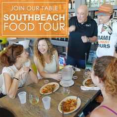 Enjoying food and friends at the south beach food tour by Miami culinary tours www.miamiculinarytours.com