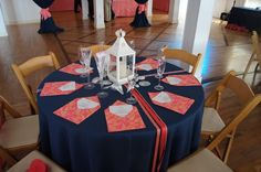 Navy and Coral Wedding Centerpieces | Coral And Navy Wedding Centerpieces Bonnie projects: coral and