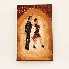 Latin Dancers Small Canvas Art as a Gift ideas for her - Dancing Original Acrylic Painting - Miniature Canvas by DeniseArtStudio on Etsy Acrylic Painting Canvas, Watercolor Paintings, Paintings For Sale, Original Paintings, Small Canvas Art, Art For Sale, Abstract Art, Miniatures, Dancers