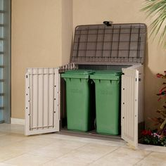 Shed On Pinterest Garbage Storage, Garbage Can Storage And Sheds