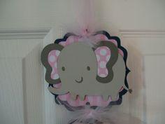 It's a Girl Door Banner  It's a Girl Elephant by KatlinLee123,