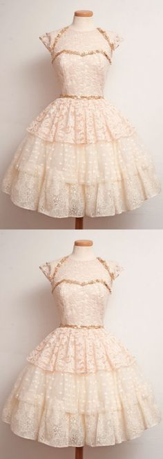 Gown Homecoming Dresses, Pink Homecoming Dresses, Short Homecoming Dresses With Layered Cap Sleeve Knee-length, Short Homecoming Dresses, Short Sleeve Dresses, Cap Sleeve Dresses, Homecoming Dresses Short, Short Pink dresses, Pink Short dresses