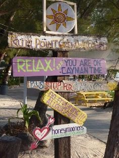 Outside the Rum Point Restaurant Grand Cayman Island, Cayman Islands, Island Theme, Paradise Found, Rum, Trip Advisor, Restaurant, Outdoor Decor, Signs