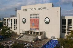 Cotton Bowl Stadium is located in Fair Park, site of the State Fair of Texas in Dallas, Texas, USA