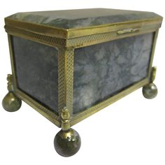 19th Century Continental Agate Box | From a unique collection of antique and modern boxes at https://www.1stdibs.com/furniture/decorative-objects/boxes/
