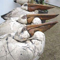 ☥ Figurative Ceramic Sculpture ☥ Brendan Hesmondhalgh   Pelicans