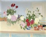 Roses and peonies by Jane Freilicher