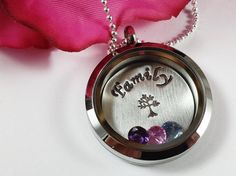 My Family Living Locket Necklace  Glass by CharitableCreations, $52.95