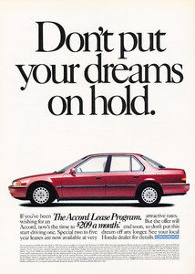 Vintage 1991 Honda Accord Ad!  I love mine so much, same color and all