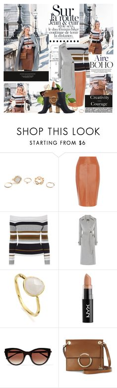 """""""Life isn't about finding yourself. Life is about creating yourself."""" by mars ❤ liked on Polyvore featuring GUESS, Monica Vinader, NYX, Thierry Lasry, KG Kurt Geiger, setapril2017 and setapril"""
