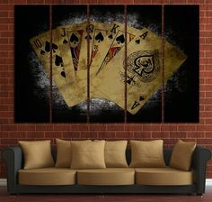 poker poster on canvas for wall decor, poker wall art, game room decoration, personalized gift, card Poker, Game Room Decor, Room Wall Decor, Contemporary Wall Art, Poster On, Game Art, Office Decor, Canvas Wall Art, Art Deco