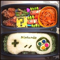 25 lovely and delicious bento boxes too cute to eat. Cute Bento Boxes, Bento Box Lunch, Cute Food, Yummy Food, Comida Disney, Bento Kids, Anime Bento, Japanese Lunch Box, Whats For Lunch