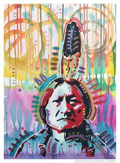 Pop Art Painting - Sitting Bull by Dean Russo