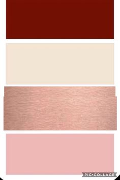 Burgundy, ivory, rose gold, and Blush wedding color swatch Smith wedding 2018