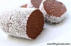 Kókuszos csokiszalámi | Konyha24.hu