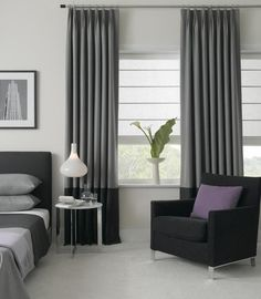 Modern Bedroom Curtains modern curtains on recessed track modern window treatments