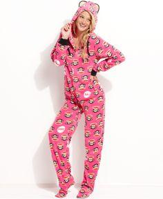 Paul Frank Hooded Footed Pajamas