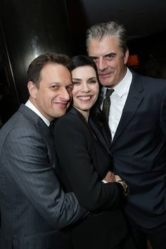 THE GOOD WIFE TV Show series - GOLDEN GLOBE NOMINEES:  Julianna Margulies &…
