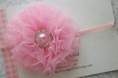 Tulle Headband in Ballerina Pink  Baby Headbands by MyMondaysChild, $6.95