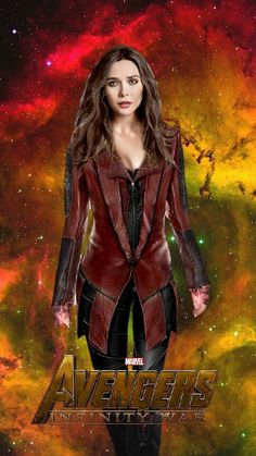 Avengers Infinity War Movie Poster 2018 Featuring Scarlett Witch aka Wanda Maximoff, Check Out the Infinity War Movie Trailer Breakdown and Missed Details - DigitalEntertainmentReview.com