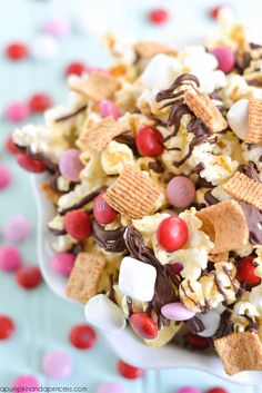 Valentine's Day S'mores Popcorn - A Pumpkin And A Princess
