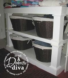 THis will work for the family laundry issues....I can do something like this in the main bath and then just take the baskets to the laundry room! GENIUS!