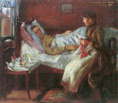 Padre Franz Heinrich Corinto en el lecho de enfermo(1888 )   -       Lovis Corinth 1858-1925 Pintor alemán