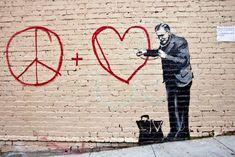 Banksy Graffiti near our house in SF