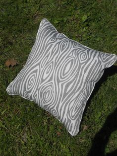 A personal favorite from my Etsy shop https://www.etsy.com/listing/235806963/wood-grain-pillow-grey-and-white